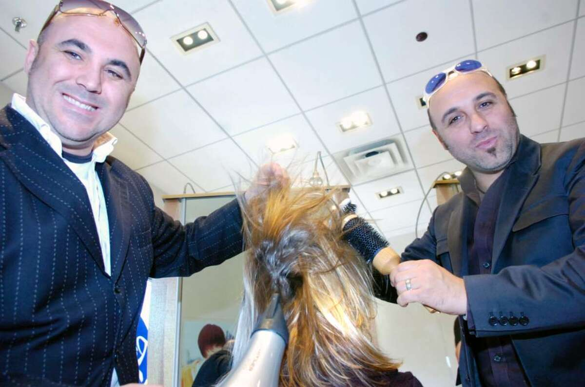 Luigi, left, and Piero Pirri photographed in the Pirri salon on Greenwich Avenue, Oct. 20, 2009. Their Pirri International Hair Group has added proprietary haircare tools manufactured in their native Italy to its product line Pirri Elements. The luxury products include paddle and round brushes and a hair dryer.