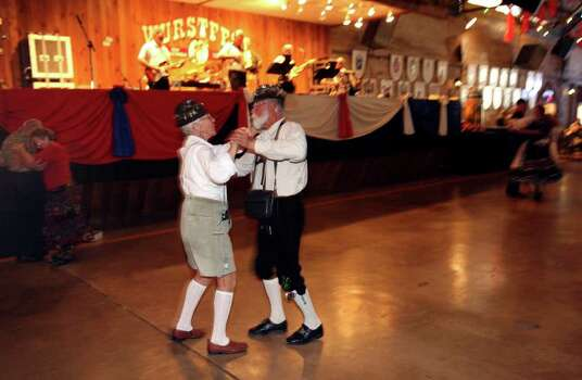 METRO -- Joyce and Charlie Perron dance at Wurstfest in New Braunfels Sunday November 04, 2007. Photo: Robert McLeroy, San Antonio Express-News / San Antonio Express-News