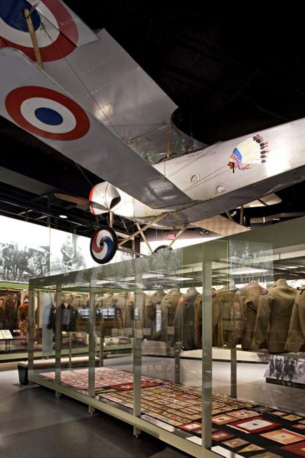 Replica of a British DeHavilland DH2 airplane at the WWI Museum in Kansas City. Provided by the WWI Museum.