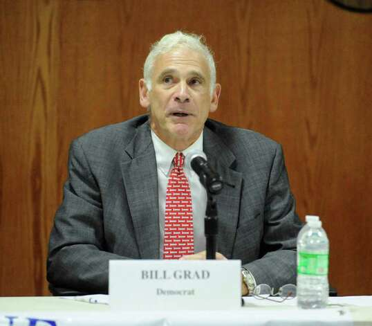 Democrat tax collector candidate Bill Grad during a debate at Town Hall Sept. 27, 2011. Photo: Bob Luckey, Greenwich Time File / Greenwich Time