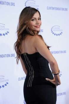 "CORRECTS DAY OF WEEK - Actress Sofia Vergara arrives at The Clinton Foundation Gala in Honor of ""A Decade of Difference"", at The Hollywood Palladium in Hollywood, Calif. on Friday, Oct. 14, 2011. Photo: AP"