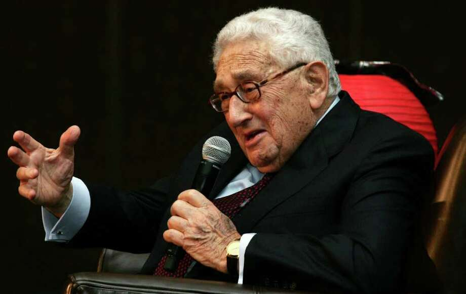 Former Secretary of State Dr. Henry Kissinger was the keynote speaker at a Family Centers benefit luncheon at the Hyatt Regency Greenwich Friday, Nov. 4, 2011. Photo: David Ames / Greenwich Time