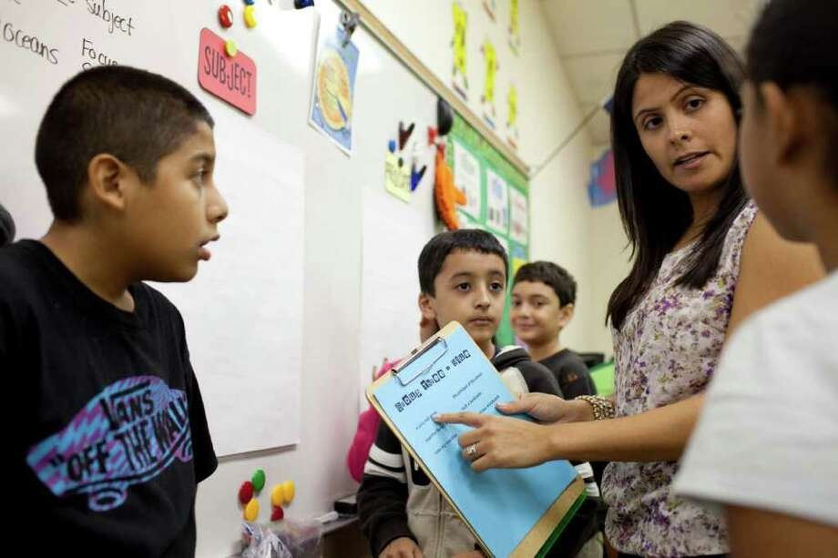 "ERIC KAYNE : FOR THE CHRONICLE LOWER TURNOVER: Janet Cavazos, who teaches at Deepwater Elementary School, says, ""We have a lot of support from our administration."" Photo: Eric Kayne / © 2011 Eric Kayne"