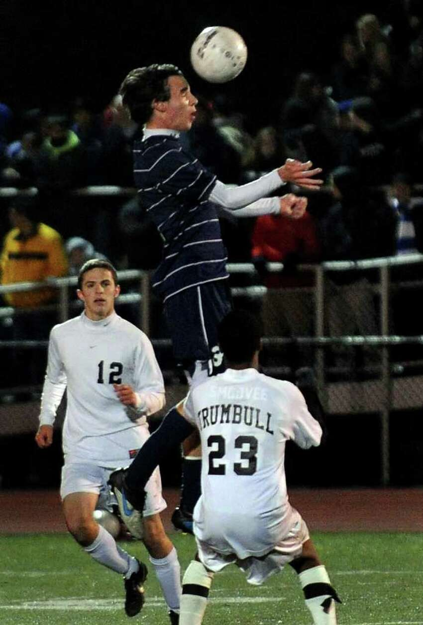 Highlights from FCIAC Boys' Soccer Championship action between Staples and Trumbull in Fairfield, Conn. on Friday November 4, 2011.