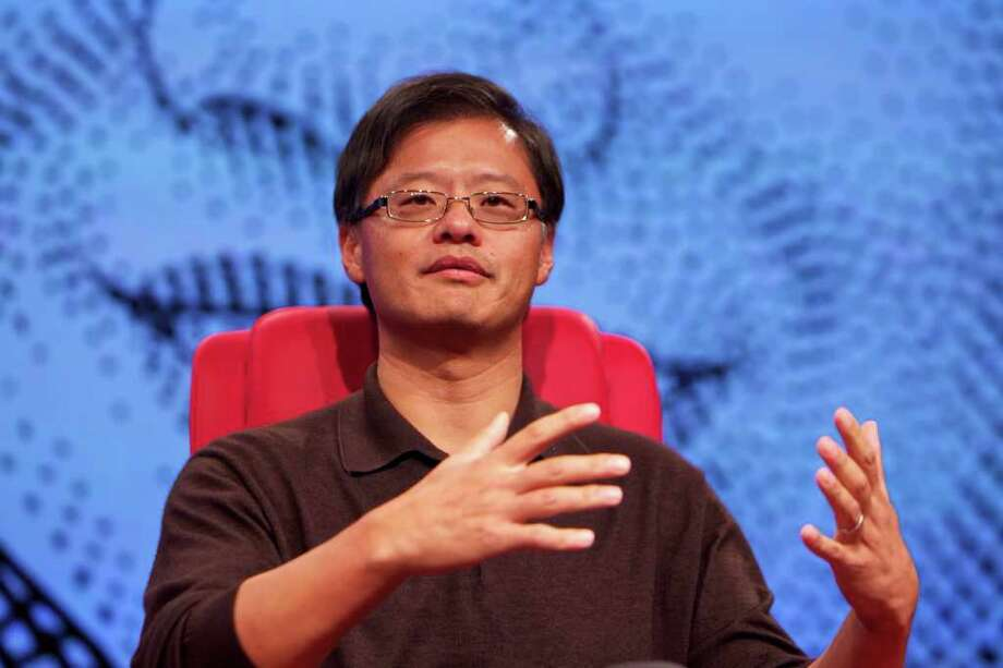"----EDITORS NOTE---- RESTRICTED TO EDITORIAL USE MANDATORY CREDIT ""AFP PHOTO / ASA MATHAT / ALL THINGS DIGITAL"" NO MARKETING NO ADVERTISING CAMPAIGNS - DISTRIBUTED AS A SERVICE TO CLIENTS NO ARCHIVES This handout image taken on October 20, 2011 and released by All Things Digital shows Yahoo's Jerry Yang speaking on the second day of the Wall Street Journal's three-day All Things Digital conference in Hong Kong. Yahoo! chief Jerry Yang left all options on the table for achieving better value for shareholders, amid reports Chinese company Alibaba has set aside 20 billion USD to buy the US digital giant.    AFP PHOTO / ASA MATHAT / ALL THINGS DIGITAL (Photo credit should read Asa Mathat/AFP/Getty Images) Photo: ASA MATHAT / Copyright © 2011 All Things Digital - Asa Mathat"