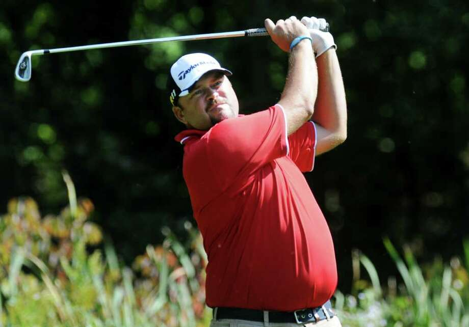 Scott Berliner drives the ball during the Northeastern New York PGA Stroke Play Championship on Tuesday, Sept. 27, 2011, at Edison Club in Rexford, N.Y. (Cindy Schultz / Times Union) Photo: Cindy Schultz / 00012857B