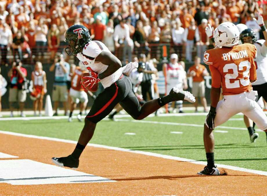 Here's a pretty good college matchup for your day: Texas Tech vs. Texas. The battle of the Texas teams begins at 4:30 PM PST on Fox Sports 1. Photo: Erich Schlegel, Getty / 2011 Getty Images