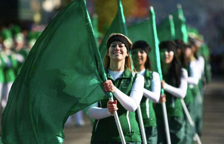 The Burley, Idaho High School marching band performs. Photo: JOSHUA TRUJILLO / SEATTLEPI.COM