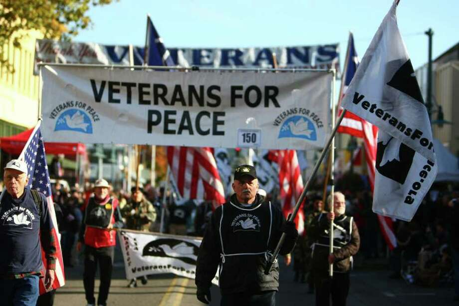 Veterans For Peace march. Photo: JOSHUA TRUJILLO / SEATTLEPI.COM
