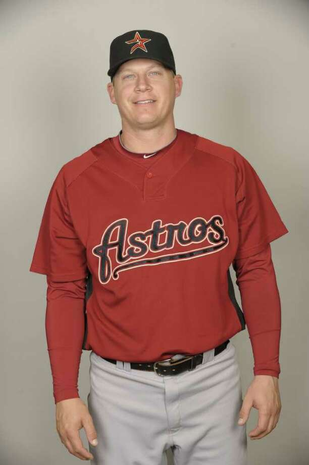 KISSIMMEE, FL - FEBRUARY 25:  Geoff Blum of the Houston Astros poses during Photo Day on Thursday, February 25, 2010 at Osceola County Stadium in Kissimmee, Florida.  (Photo by Tony Firriolo/MLB Photos via Getty Images) *** Local Caption *** Geoff Blum Photo: Tony Firriolo / 2010 MLB Photos