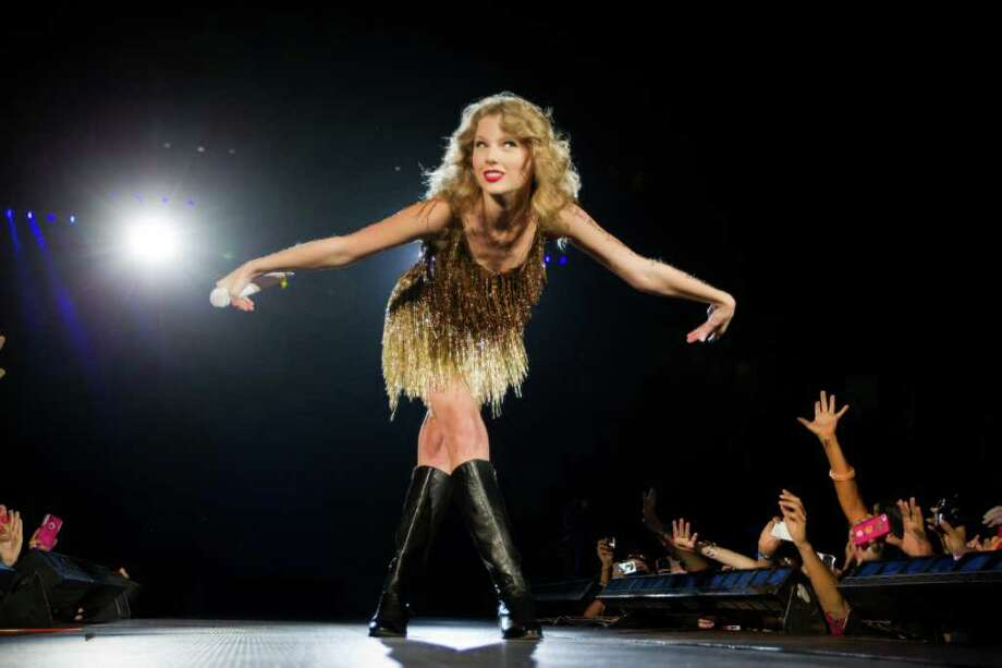 Taylor Swift on Saturday night at Minute Maid Park delivered a stadium-scale show with intimate touches. Photo: Smiley N. Pool / © 2011  Houston Chronicle