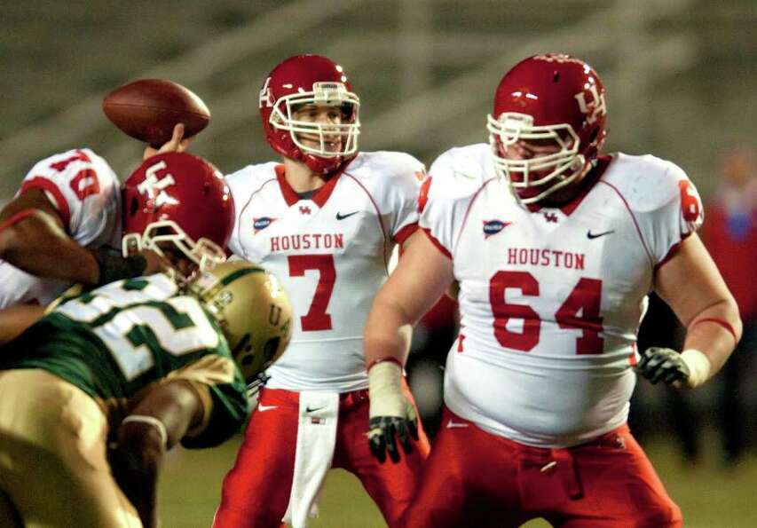 Nov. 5: UH 56, UAB 13. UH's Case Keenum passes in the se