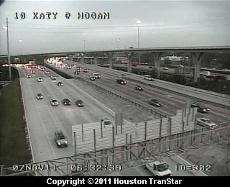 It's a clear morning in Houston.