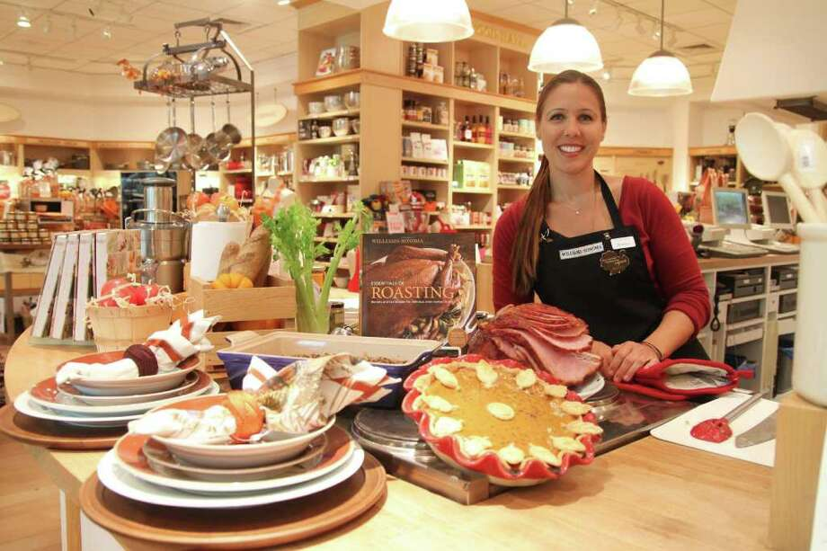 HOLIDAY MAGIC: Whether a novice in the kitchen or an old pro, the complimentary cooking technique classes at Williams-Sonoma are designed to make holiday cooking a snap? and garner applause for the chef from family and friends. Assistant manager Jessica Hazen is among the culinary experts at the store who lead the classes at the Baybrook Mall location.