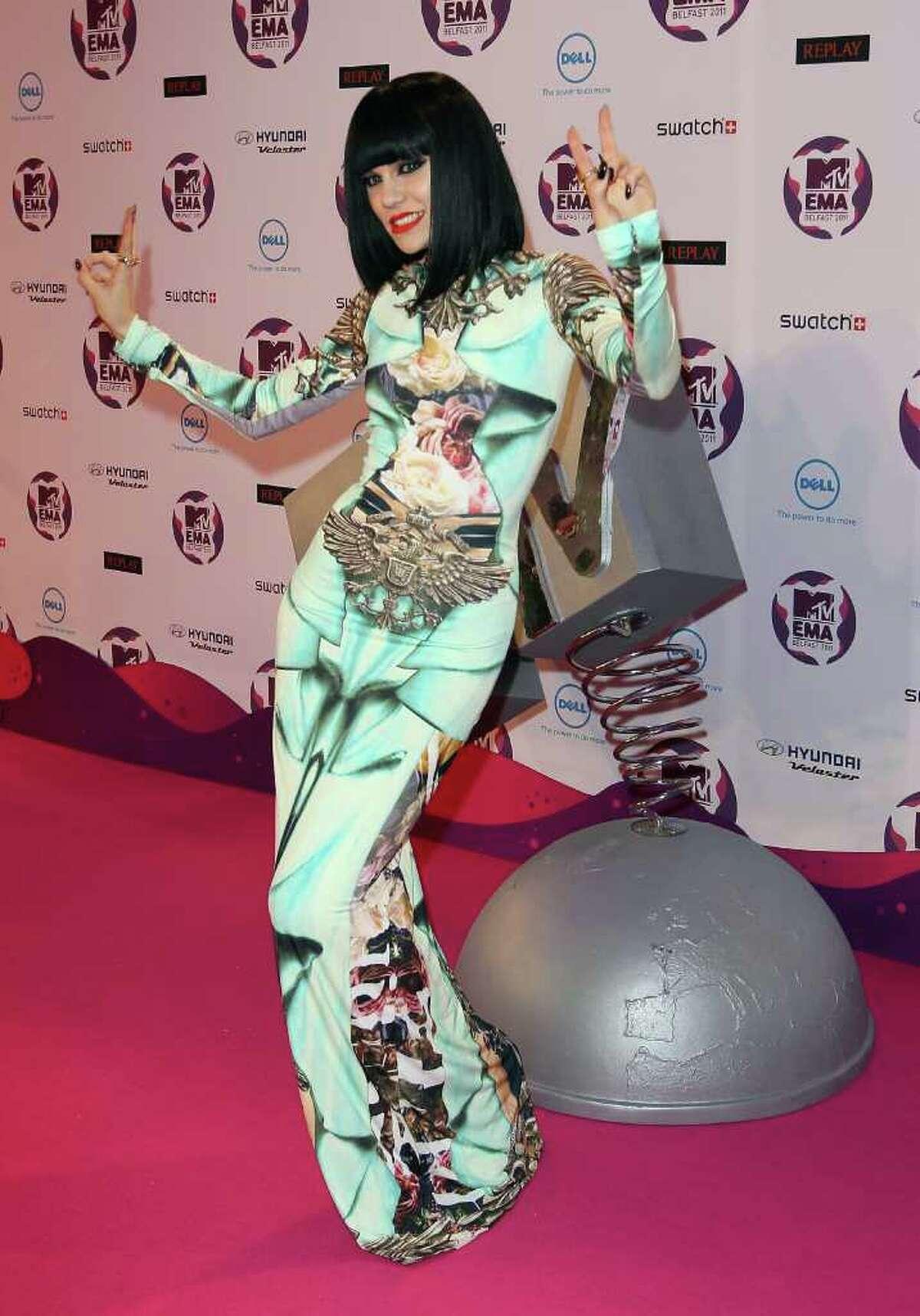 BELFAST, NORTHERN IRELAND - NOVEMBER 06: Singer Jessie J attends the MTV Europe Music Awards 2011 at Odyssey Arena on November 6, 2011 in Belfast, Northern Ireland.