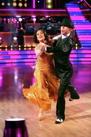 "DANCING WITH THE STARS - ""Episode 1306"" - The remaining seven couples brought widely entertaining performances to the ballroom floor with explosive dancing and unforgettable songs from some of Broadway's most popular musicals of all time, on ""Dancing with the Stars,"" MONDAY, OCTOBER 24 (8:00-10:01 p.m., ET), on the ABC Television Network. (ABC/ADAM TAYLOR) RICKI LAKE, DEREK HOUGH Photo: (ABC/ADAM TAYLOR), ABC / © 2011 American Broadcasting Companies, Inc. All rights reserved."