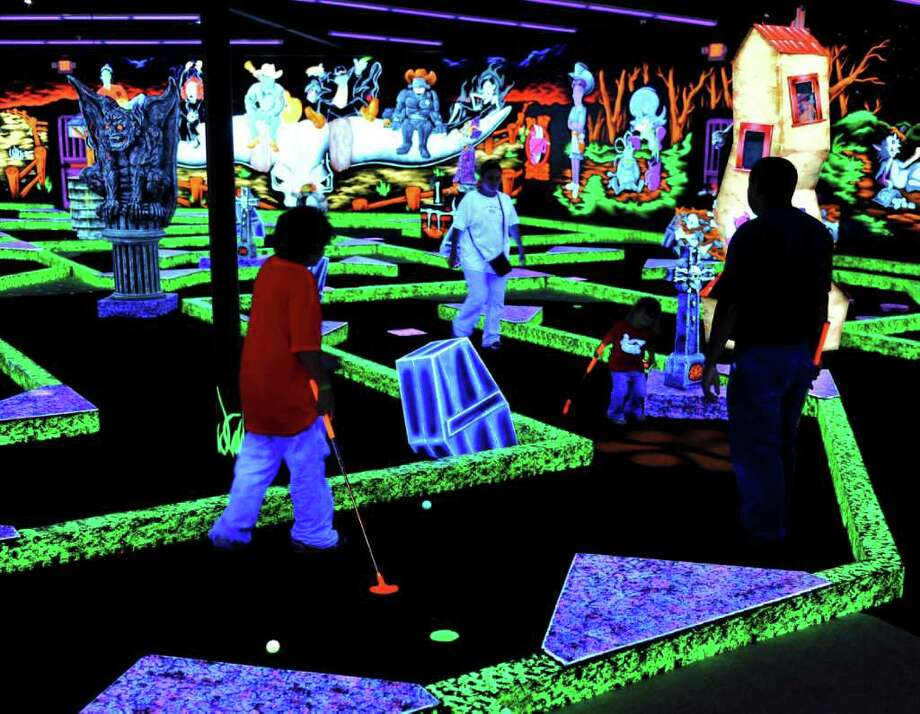Shoot For A Glowing Experience At Monster Mini Golf San
