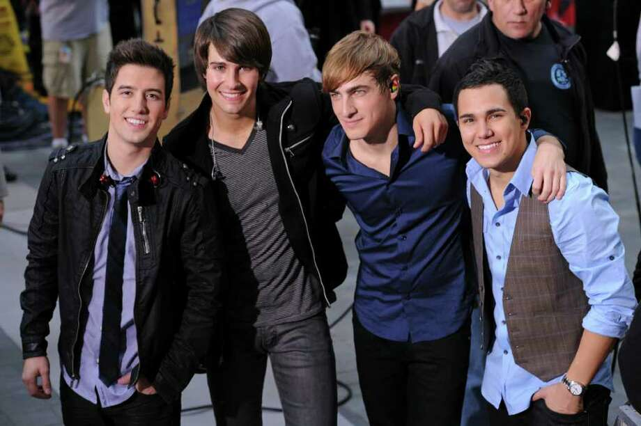 Big Time Rush singer James Maslow (second from left)  Photo: Bryan Bedder / Getty Images North America