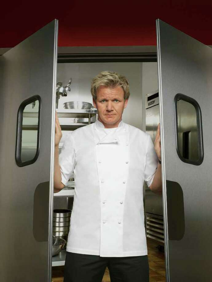 "Chef Gordon Ramsay hits the road tackling resturants in crisis and exposing the stressful realities of trying to run a successful food business in his FOX show  ""Kitchen Nightmares."" / 1"
