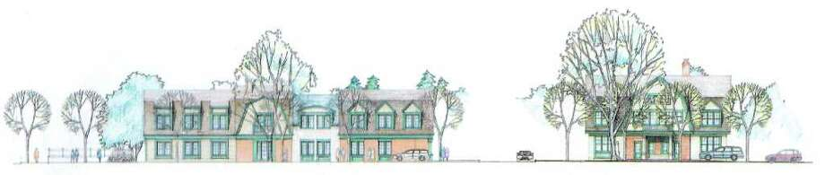 An architectural rendering of a 17-unit condominium complex and daycare facility proposed by Nagi Osta. The buildings are to be on High Ridge Road between Bradley Place and Maplewood Place. Photo: Contributed Photo