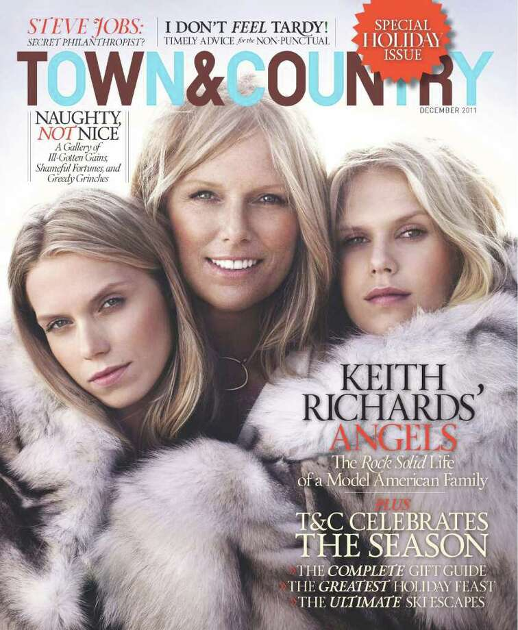 The December, 2011 cover of Town & Country Magazine, which includes a feature about Lynn Wyatt's personalized holiday gifts made by Houston accessories designer Alexandra Knight. Photo: Town & Country