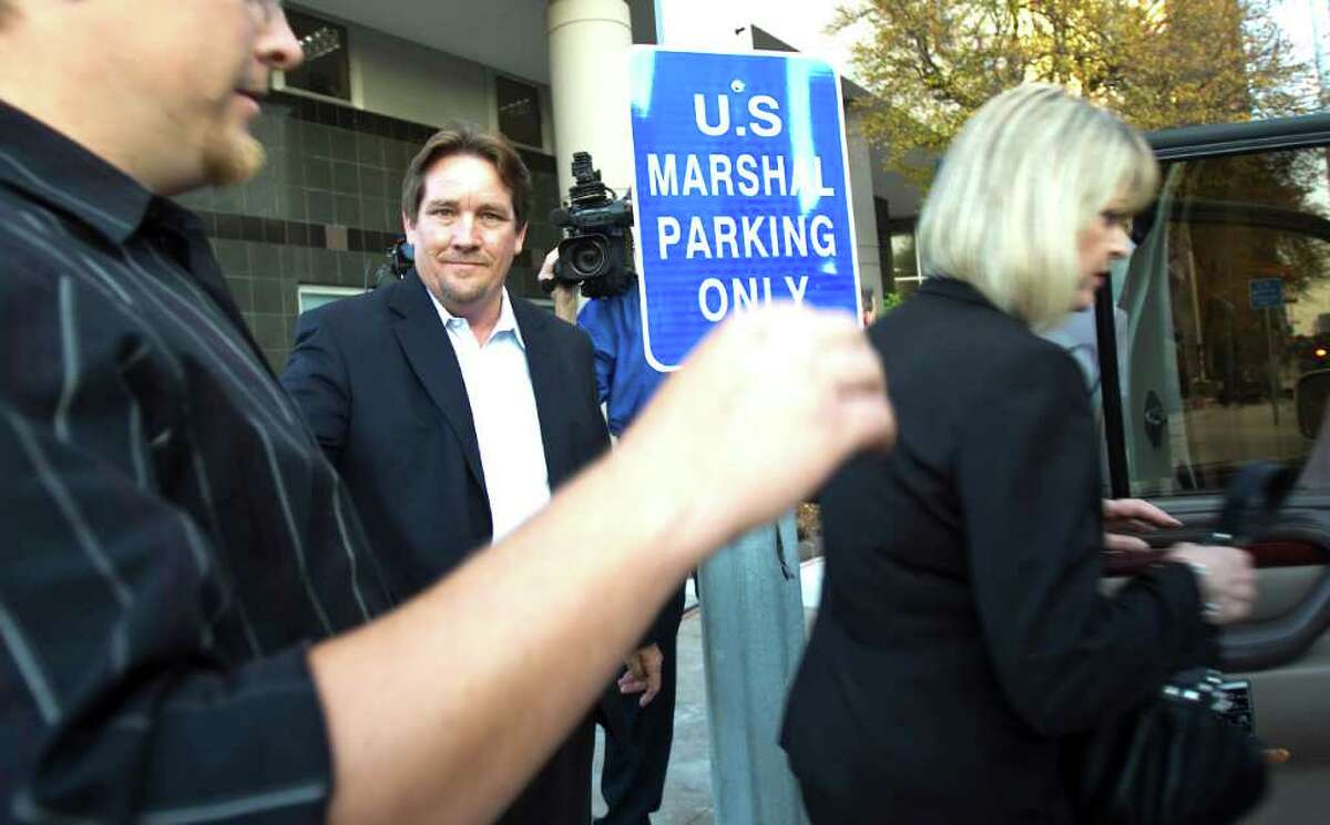 Michael Surface leaves the Bob Casey United States Courthouse Tuesday, Dec. 21, 2010, in front of the in Houston. Surface is under federal indictment with Harris County Precinct Four County Commissioner Jerry Eversole. ( Nick de la Torre / Houston Chronicle )