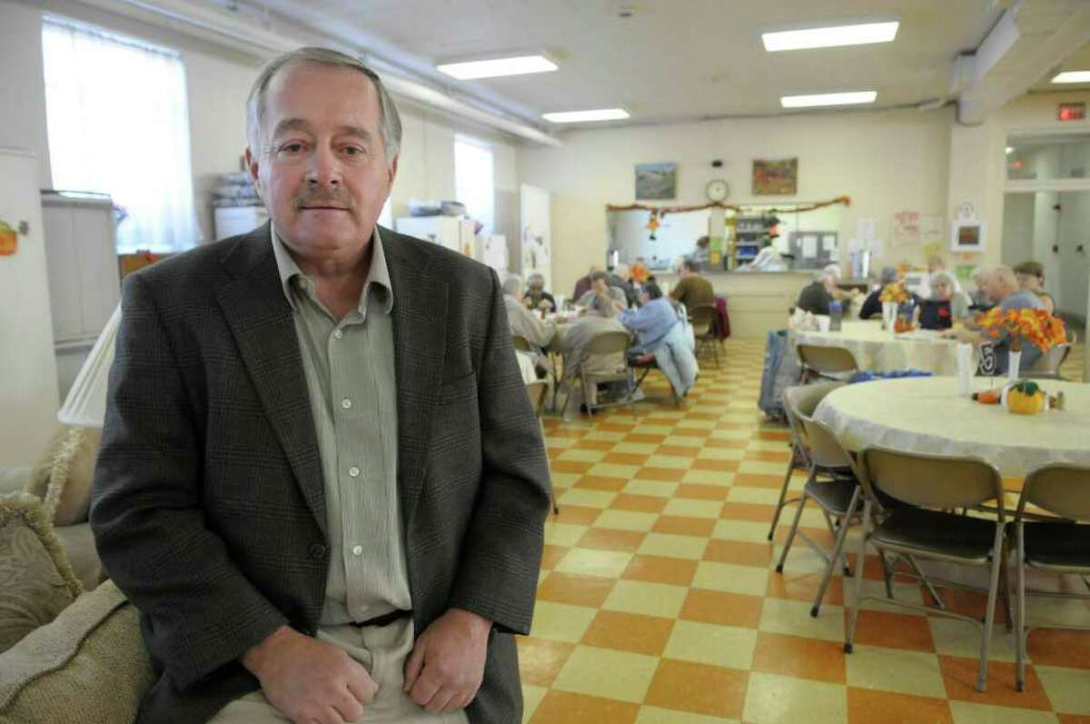 Rensselaer County Legislator Mike Stammel poses at the Rensselaer County Senior Center on Monday, Nov. 7, 2011 in Rensselaer. The center is slated to close on April 1st due to budget cuts. (Paul Buckowski / Times Union)