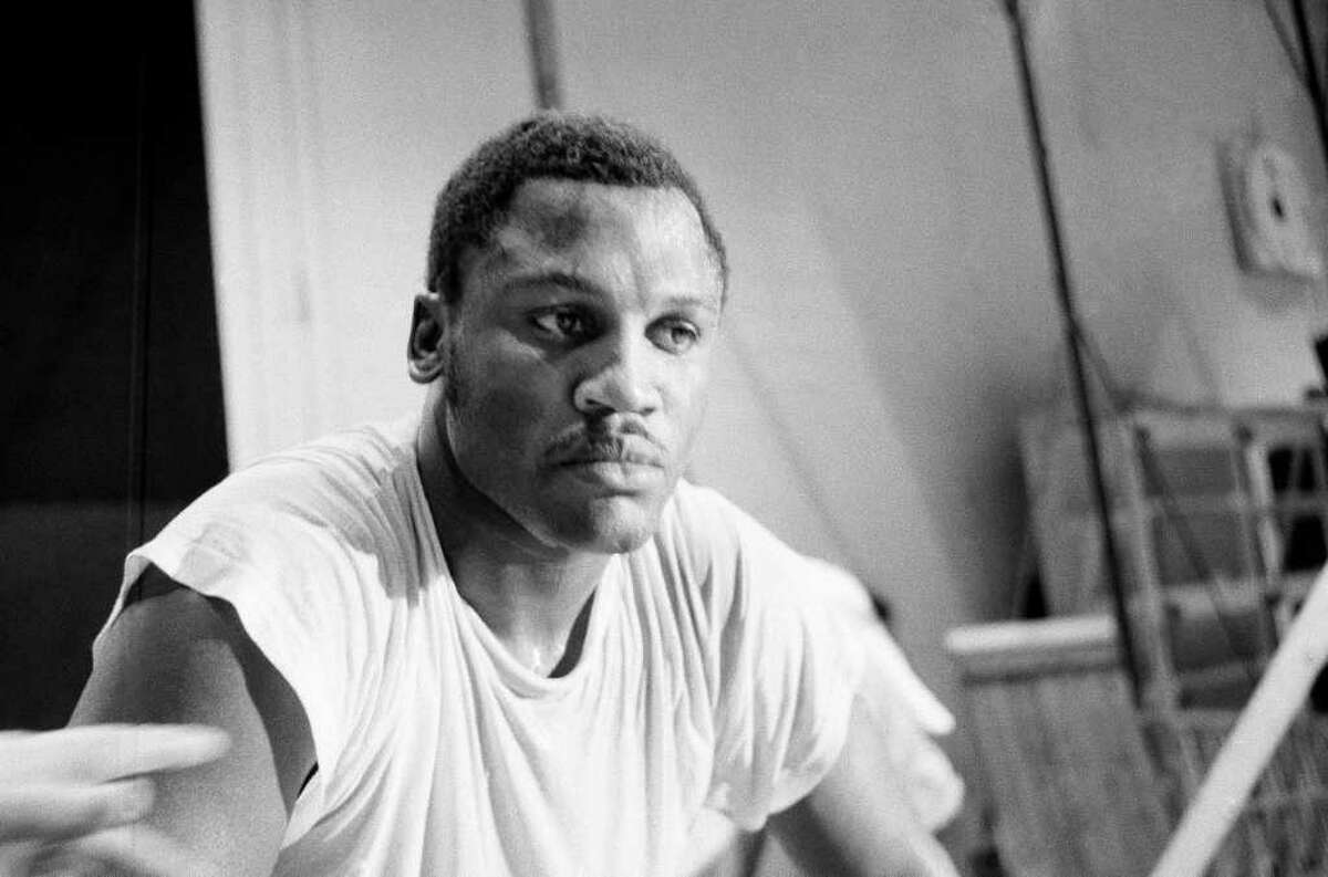 Frazier pauses after a workout on Feb. 3, 1970 at New York's Madison Square Garden.