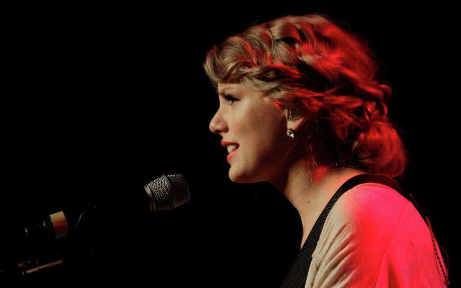 Taylor Swift performs during the Nashville Songwriters Hall of Fame Inductions in October in Nashville, Tenn. Photo: Mark Humphrey, STF / AP