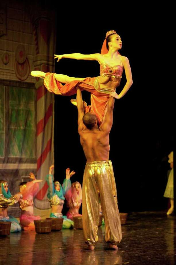 """This scene from Westport's Academy of Dance 2010 production of """"The Nutcracker"""" features The Arabian Coffee Performers, a classic staple of Act II. Photo: Contributed Photo / Westport News"""