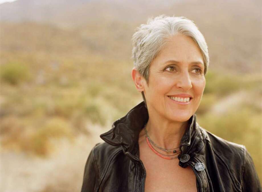 Folk singer Joan Baez, who is as known for her music as for her human rights advocacy work, will perform at the Palace Theatre in Stamford, Tuesday, Nov. 15. The show starts at 7:30 p.m. For tickets, visit www.scalive.org. Contributed photo/Dana Tynan Photo: Contributed Photo