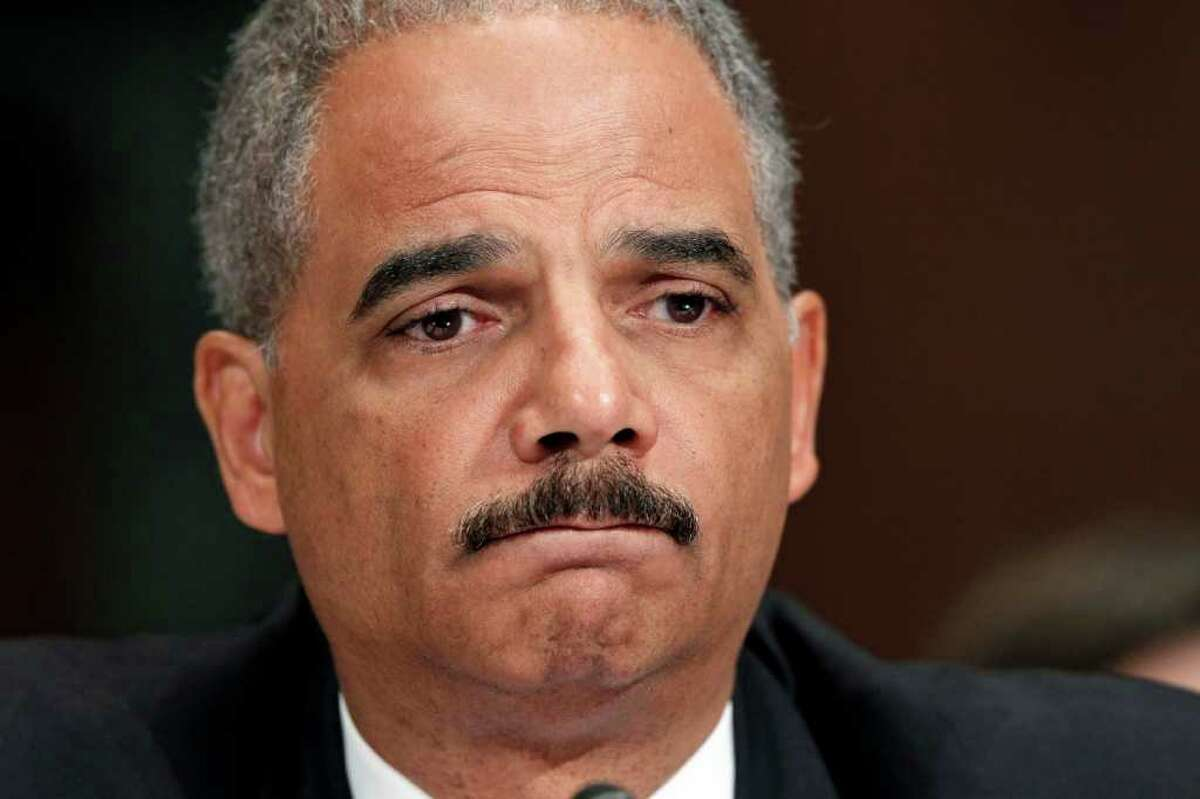UNYIELDING: Attorney General Eric Holder's still maintains he didn't become aware of Fast and Furious until it came out in public.