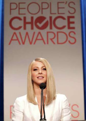 Actress Julianne Hough speaks during the nominations announcement for People's Choice Awards 2012, Tuesday, Nov. 8, 2011, in Beverly Hills, Calif.  The People's Choice Awards 2012 will be held Jan. 11, 2012. (AP Photo/Matt Sayles) Photo: Matt Sayles, STF / AP