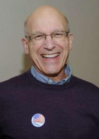 <b>Bill Davidson</b>, Democratic candidate for First Selectman, is jubilant at the <b>...</b> - 628x471