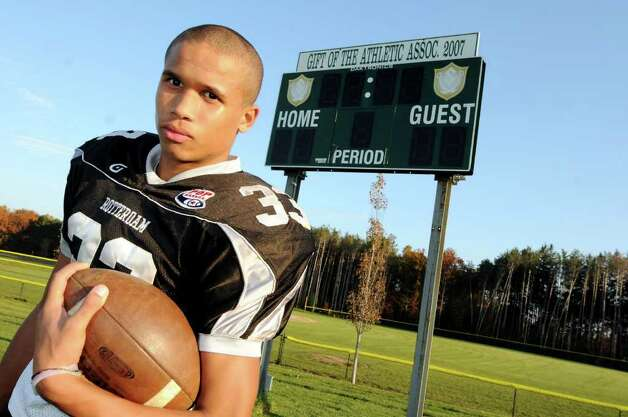 Schalmont football player Devon Willis on Tuesday, Nov. 8, 2011, at Schalmont High in Rotterdam N.Y. (Cindy Schultz / Times Union) Photo: Cindy Schultz / 00015323A