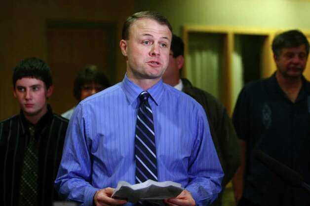 Tim Eyman speaks to the press about  Initiative 1125 during a press event on Tuesday at the Westin Hotel in Seattle. Photo: JOSHUA TRUJILLO / SEATTLEPI.COM