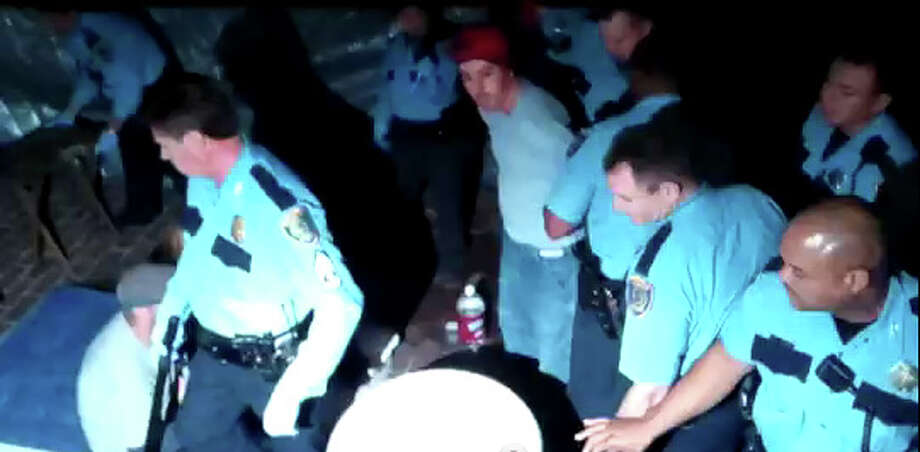 HPD arrested and detained several protesters during a dispute over a tarp at their campsite.
