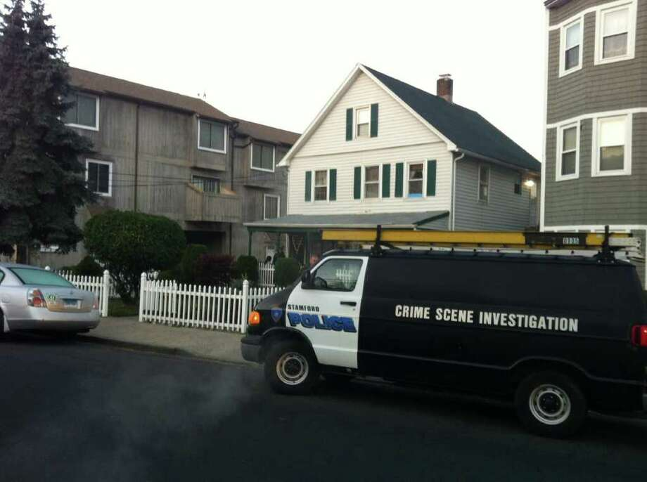 A man was charged with breaking into this Stamford home on Lockwood Avenue early Wednesday morning, Nov. 10, 2011. Photo: John Nickerson