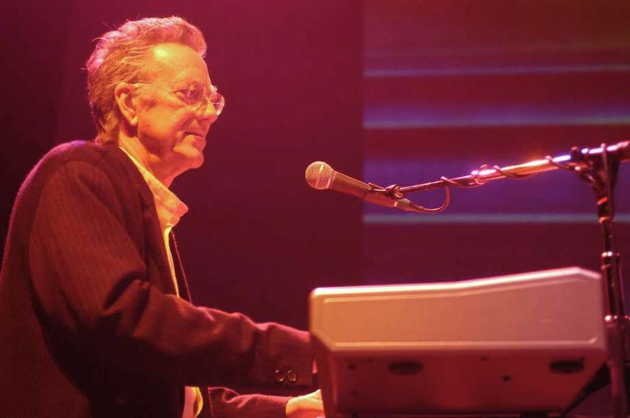 Ray Manzarek performing as The Doors go back on tour.  Ian Astbury filling in for the late Jim Morrison, Ray Manzarek (keyboards) and Robby Krieger (guitar) are the only original members. The Doors performed 03/28/03 at Verizon Wireless Theater. Photo: Bill Olive / FREELANCE