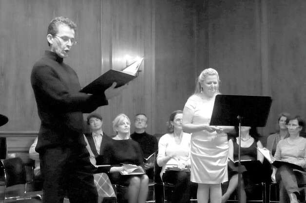British born Chris Jones serves as co-narrator of the Angel Choir's performances along with his wife, Pam Kuhn. He also sings in the choir. Photo: Anne W. Semmes