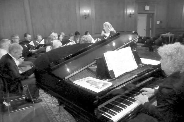"Piano accompanist Patti Preiss Harris from Stamford followed Pam Kuhn to the Angel Choir after playing for her with the Westfair Singers. She has such fresh ideas about music,' she says, ""and every month there's a different theme."" Photo: Anne W. Semmes"