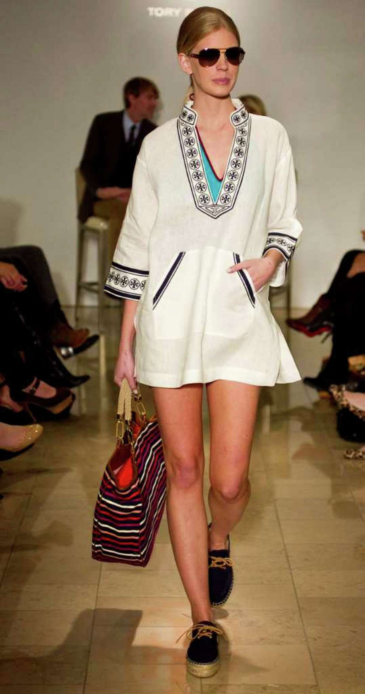 Tory Burch's resort line features her famous tunic style.