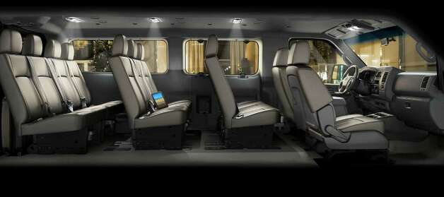 This cutaway view shows one seating configuration available in the 2012 Nissan NV3500 Passenger Van. The fourth row has room for up to four people. COURTESY OF NISSAN NORTH AMERICA INC. Photo: Nissan North America, COURTESY OF NISSAN NORTH AMERICA INC.