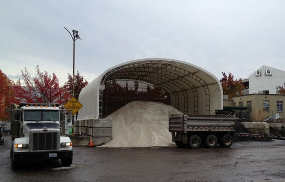 The Seattle Dept. of Transportation has stockpiled 2,220 tons of salt in preparedness for this winter. Photo: Scott Gutierrez/seattlepi.com