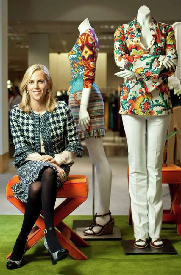 Fashion designer Tory burch makes a specail appearance to show her fall line  Neiman Marcus, Thursday, Nov. 3, 2011, in the Galleria in Houston. ( Nick de la Torre / Houston Chronicle ) Photo: Nick De La Torre / © 2011  Houston Chronicle