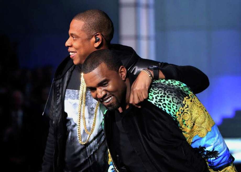 Rappers Jay-Z and Kanye West perform. Photo: © Lucas Jackson / Reuters, REUTERS / X90066