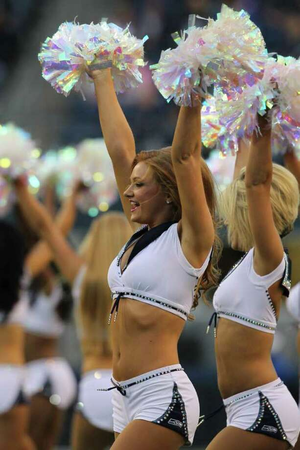 SEATTLE, WA - SEPTEMBER 02:  The Seagals perform prior to the game between the Oakland Raiders and the Seattle Seahawks at CenturyLink Field on September 2, 2011 in Seattle, Washington. Photo: Otto Greule Jr, Getty Images / 2011 Getty Images