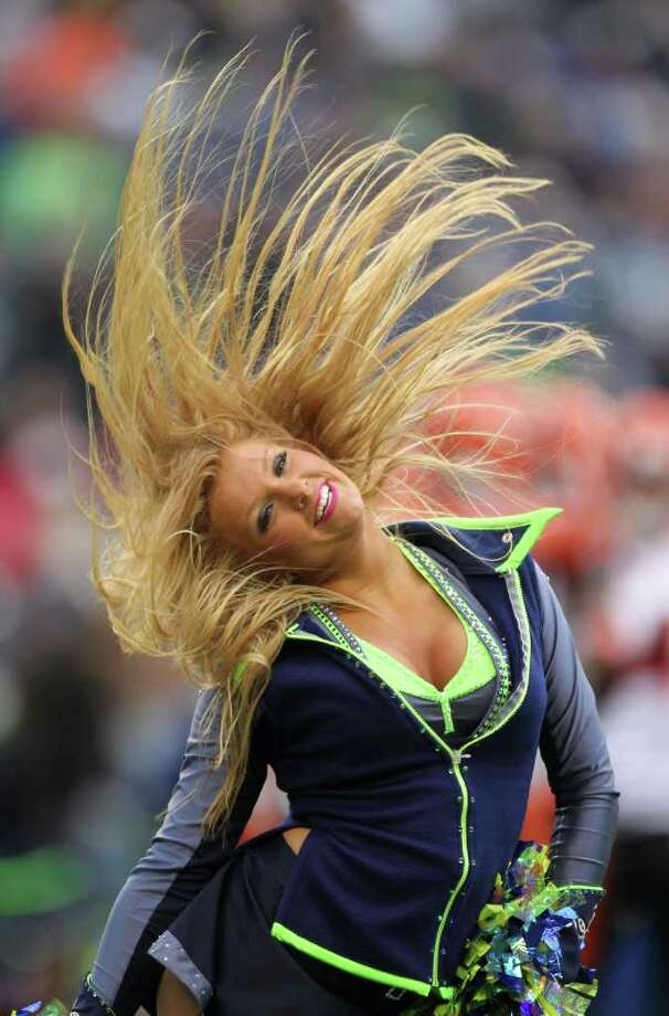 A Sea Gal performs prior to the game against the Cincinnati Bengals at CenturyLink Field on October 30, 2011. Photo: Otto Greule Jr, Getty Images / 2011 Getty Images