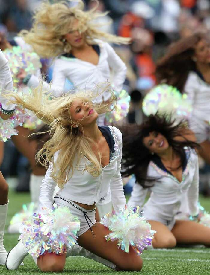 SEATTLE - OCTOBER 30:  Members of the Seattle Seahawks Seagals perform prior to the game against the Cincinnati Bengals at CenturyLink Field on October 30, 2011 in Seattle, Washington. Photo: Otto Greule Jr, Getty Images / 2011 Getty Images