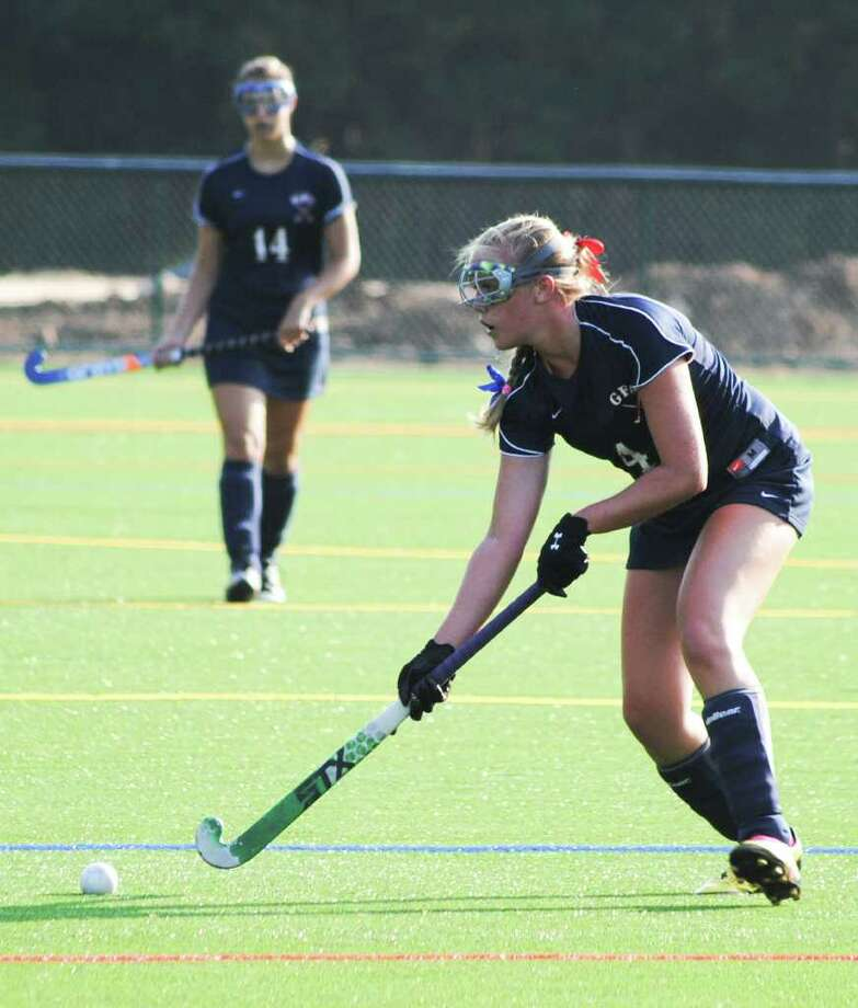 GFA's Caitlin Rummelsburg, in action in a recent game, scored two goals last week for the Dragons. Photo: Contributed Photo
